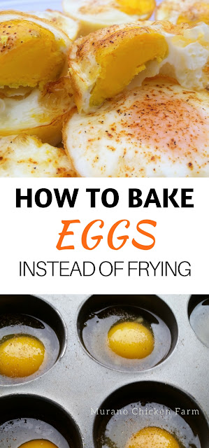 Make oven baked eggs instead of frying them. An easy way to make a dozen eggs at once!