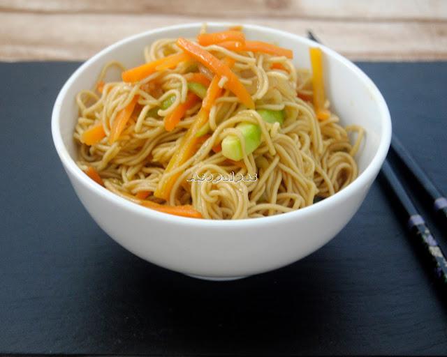 Fideos Chinos con Verduras Salteadas