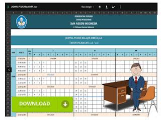 Contoh Format Jadwal Pelajaran SMA Format Excel