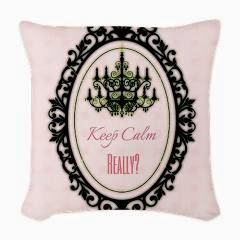 Keep Calm Really? Woven Throw Pillow