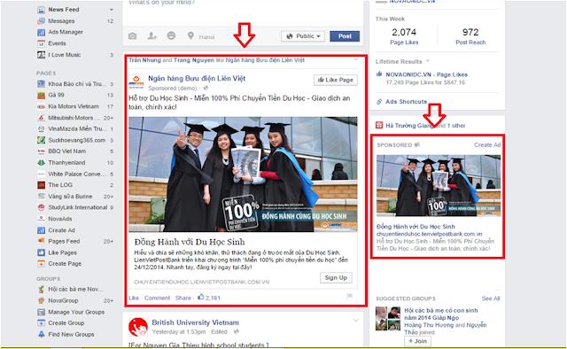 Hình thức quảng cáo Facebook Domain Ads