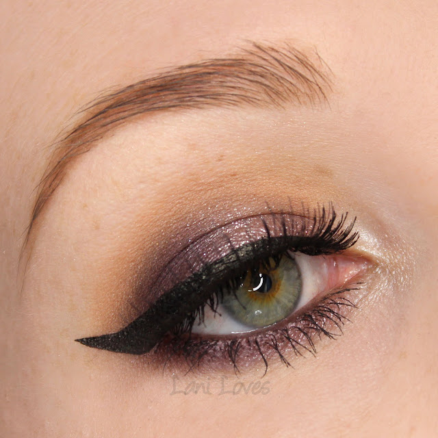 MAC Prunella Eye Kohl eyeliner, Dark Lullaby Magic Dust eyeshadow swatches & review