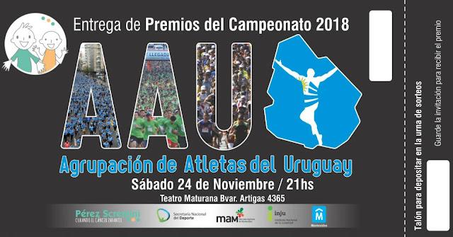 Premiación anual campeonato AAU en teatro del Colegio Maturana (24/nov/2018)