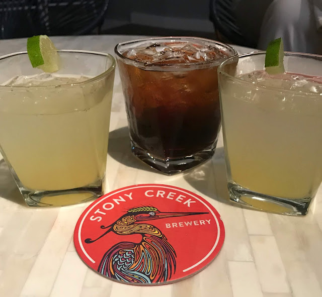 Cocktails at  Stony Creek Brewery at Foxwoods