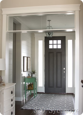 interior door painted dark gray