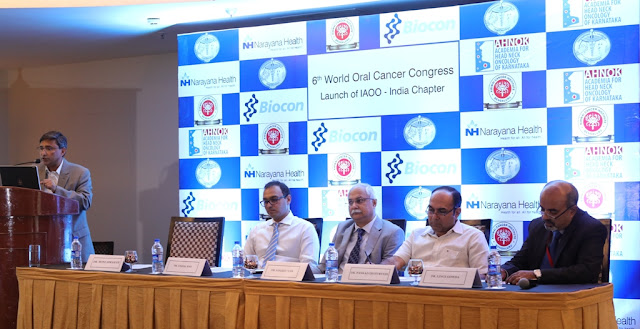 International Academy of Oral Oncology launches its India Chapter India to host the 6th World Oral Cancer Congress in Bengaluru