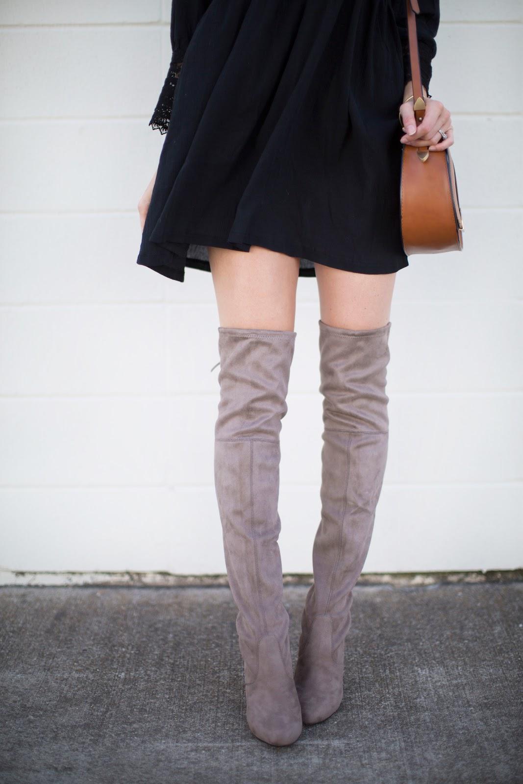Love Lenore Mini Dress Tall Boots