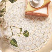 """Tapete """"Rueda de cálices y hojas"""" a Crochet"""