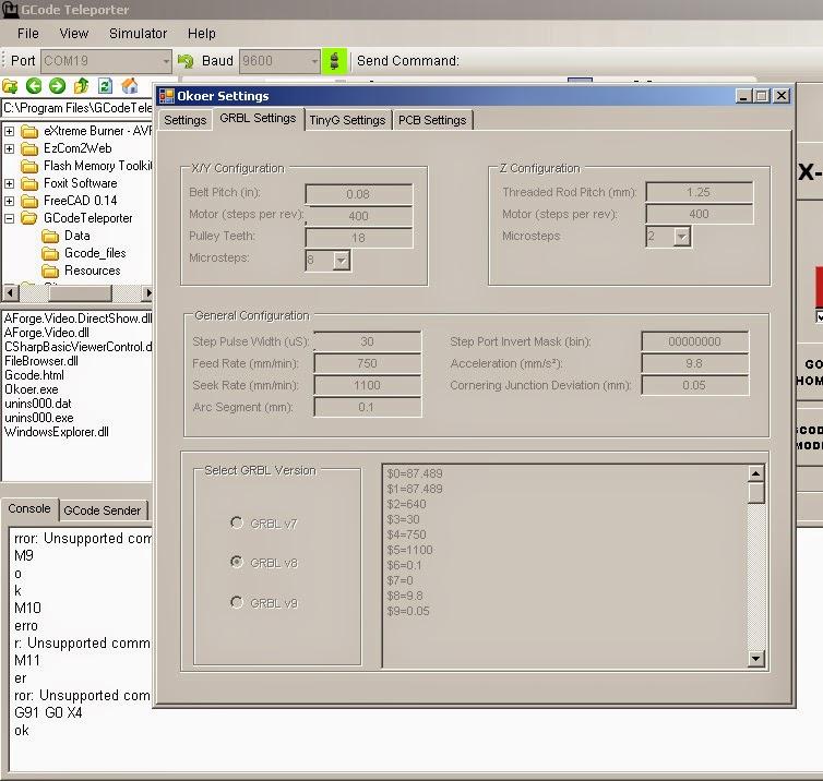 รวม โปรแกรม G Code Sender สำหรับ GRBL และการแก้ใข - Grbl Minicnc
