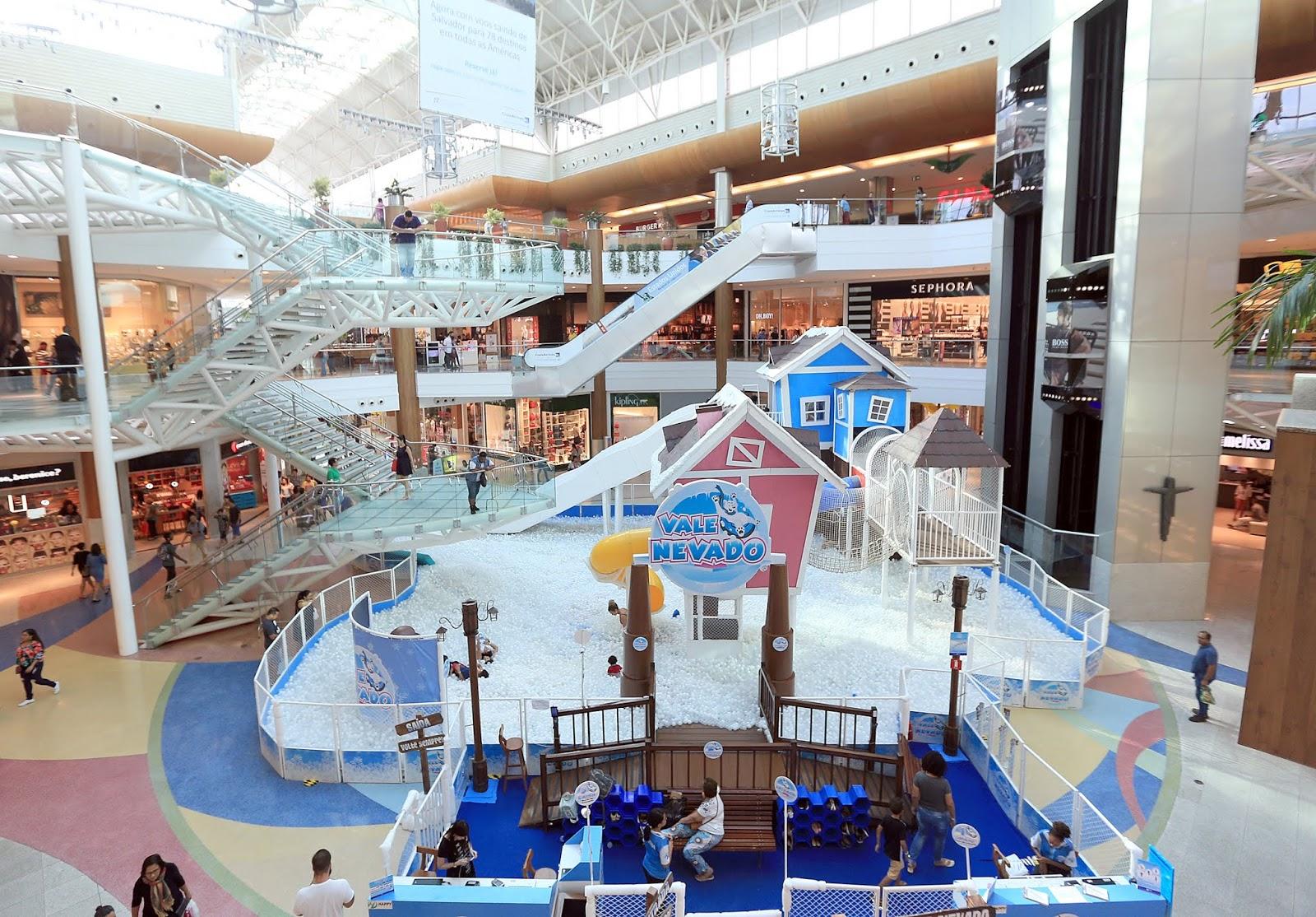 991b5e31f8d3c A Praça Central do Salvador Shopping é só diversão. Inspirado em  brincadeiras típicas de famosos circuitos de neve