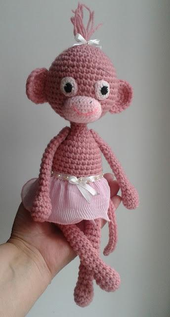 pink monkey-girl
