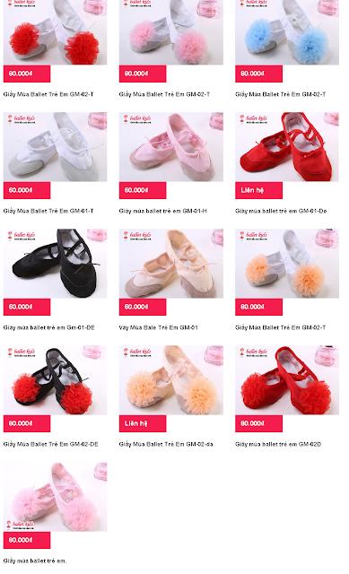 Những mẫu giầy khiêu vũ trẻ em nào được bé thích nhất