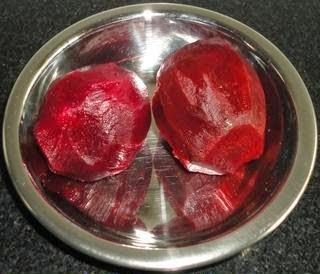 boiled beetroot raita