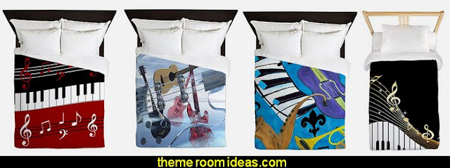 music duvet covers  Music bedroom decorating ideas - rock star bedrooms - music theme bedrooms - music theme decor - music themed decorations - bedding with musical notes