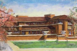 Wright house Buffalo, Schifano Pastel, Schifano house