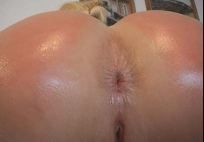 ass spread close up