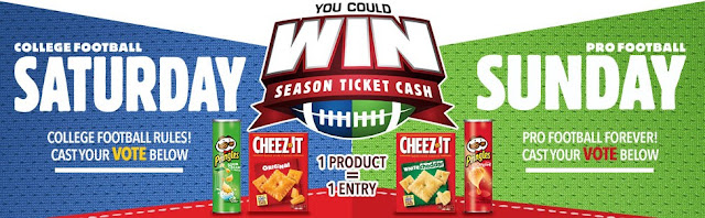 Kellogg's is giving you a chance to vote for your favorite College and National Football teams for your chance to win a lot of CASH to buy SEASON TICKETS for your favorite team!