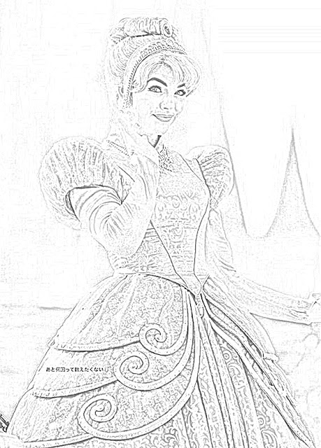 Cinderella at Walt Disney World coloring.filminspector.com