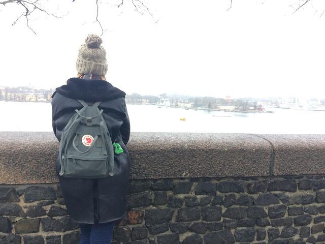 Tourist shot in Stockholm - with Fjallraven backpack