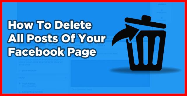 Delete All Posts On Facebook - Mktg Studio