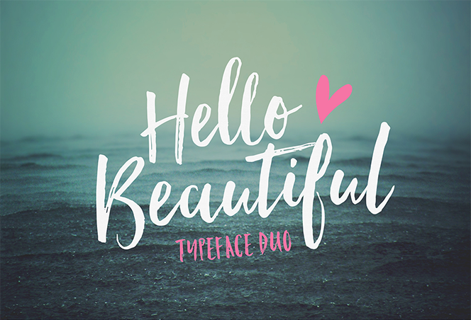 Hello Beautiful Font Duo + Swashes - Nicky Laatz