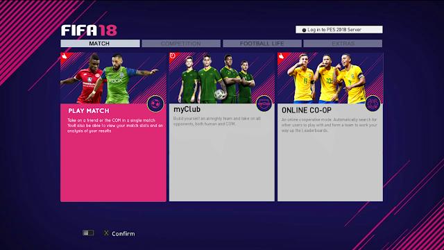 PES 2013 Graphic Menu FIFA 18 Style by Micano4u