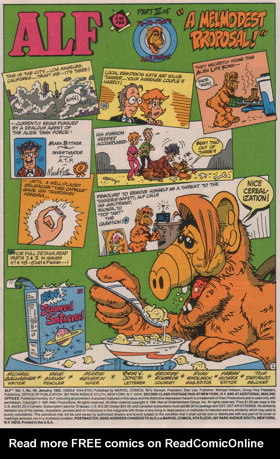 Read online ALF comic -  Issue #49 - 3