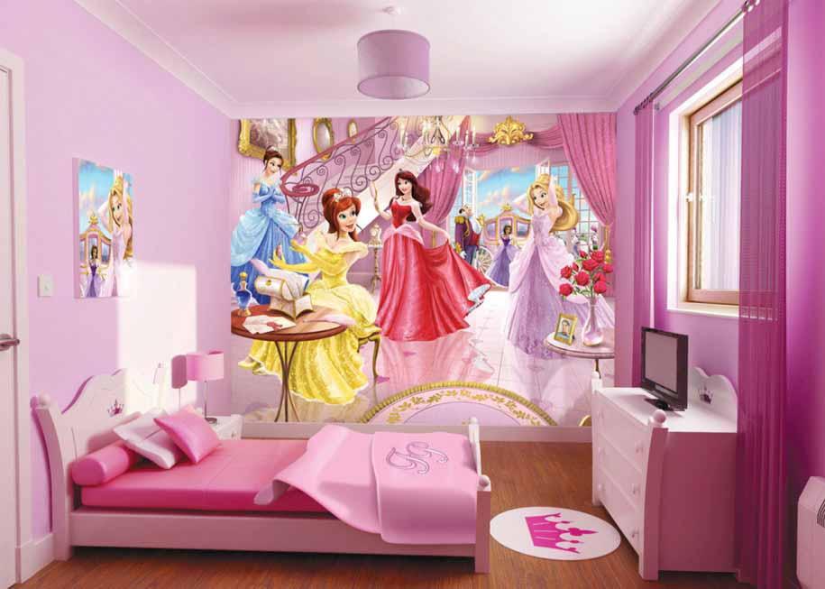 desain kamar tidur anak perempuan princess