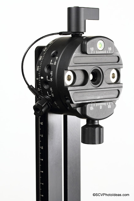 Sunwayfoto DDP-64Si on Hejnar G21-80 Vertical Rail - front view
