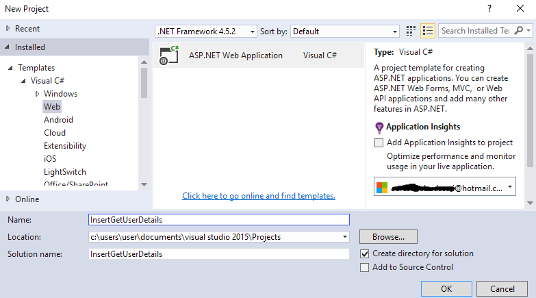 Asp Net MVC Insert (Get) Data into Database using ADO NET