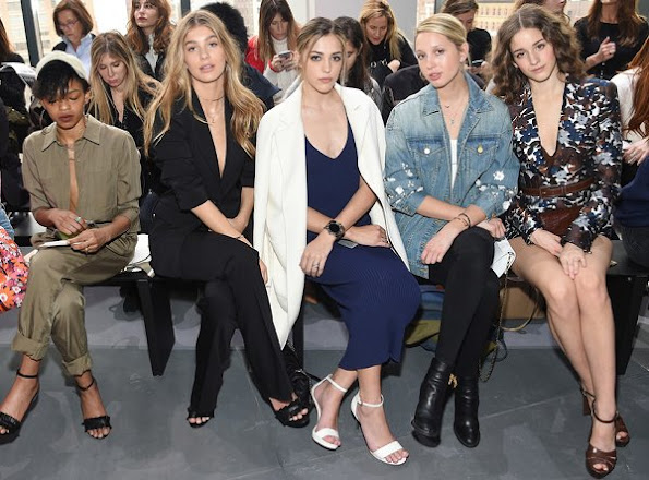 Camila Morrone, Sistine Stallone, Princess Maria-Olympia, Coco Konig, Laura Love, Harley Viera-Newton, Emily Ratajkowski, Jourdan Dunn attend the Michael Kors Collection Fall 2017 runway show