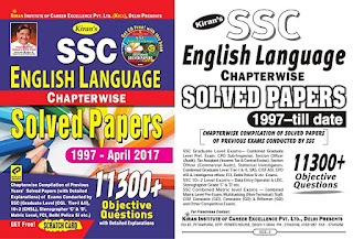 Kiran SSC English 11300+ Questions Chapterwise  (1997-2017) Download Book PDF