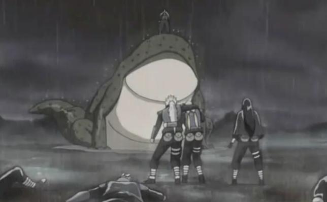 Local da luta do Kakashi e Obito vs ninjas da pedra