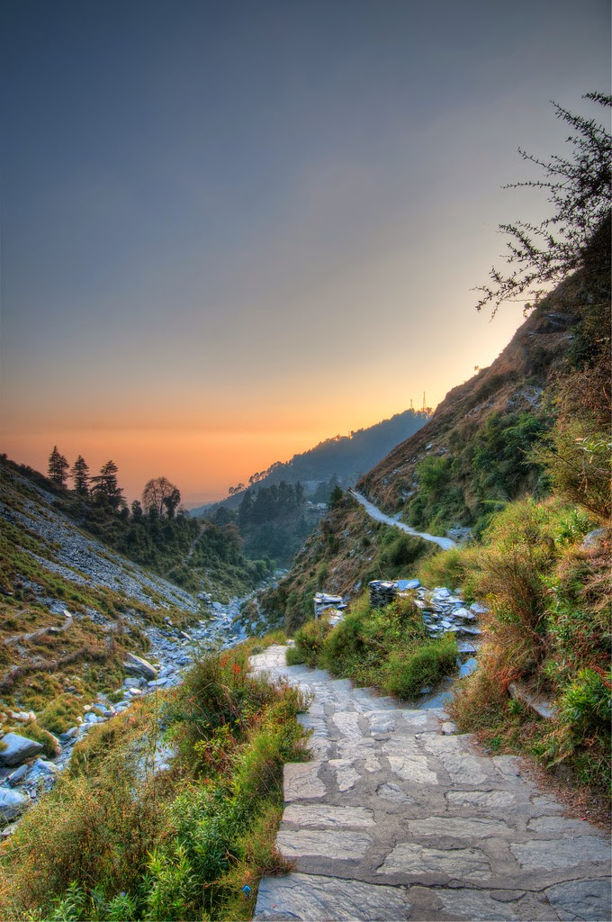 10 Best Backpacking Destinations in India | Dusk from Bhagsu Naag Pathway, Dharamsala