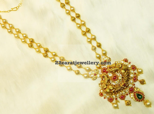 Two Layer Pearls Set by Kothari Jewels