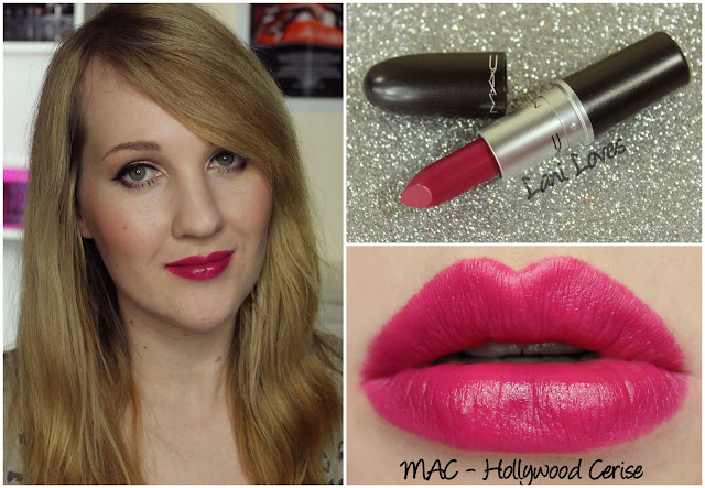 MAC Hollywood Cerise lipstick swatch