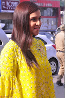 Mannara Chopra Looks Cute in Yellow Salwar Suit ~  Exclusive 53.JPG
