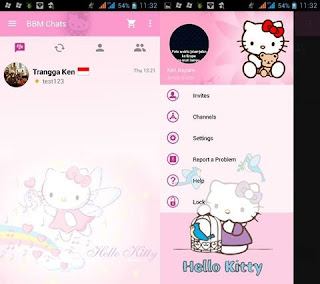 BBM Mod Hello Kitty v2.10.0.35 Apk Clone