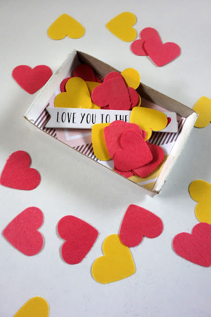 confetti hearts, how to use paper remnants, Valentine's Day crafts,