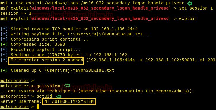 Windows Kernel Exploit Privilege Escalation