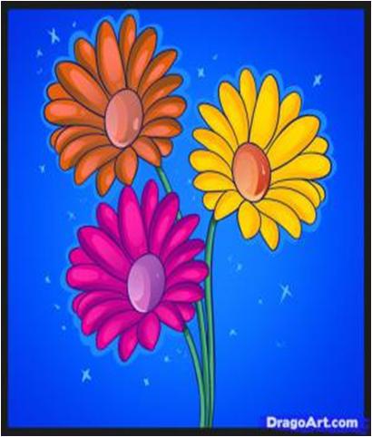 33 Gokil Abis Gambar Dua Dimensi Bunga