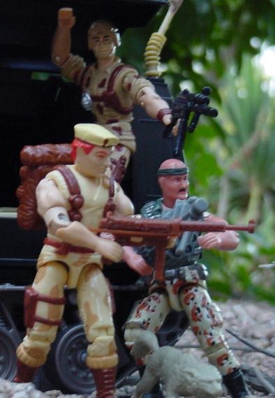 1991 Dusty, 2005 Desert Patrol Gung Ho, 2002 Night Rhino, Night Watch Trooper