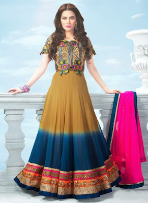 The beautiful design on bridal mehndi dress is simply stunning.