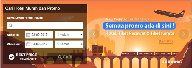 Cara pesan kamar hotel Online