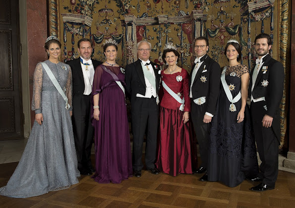 A new released family photo of the Swedish royal family. King Carl Gustaf, Queen Silvia, Crown Princess Victoria, Prince Daniel,  Prince Carl Philip, Princess Sofia Hellqvist and Princess Madeleine, Chris O'Neill,