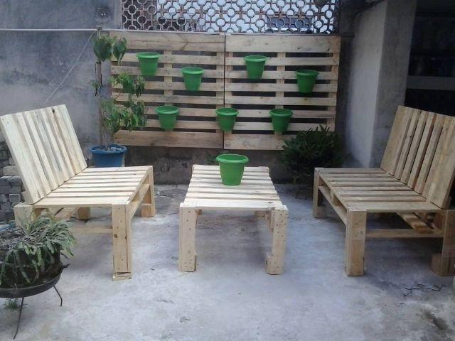 Palets de madera construccion y manualidades hazlo tu for Mobiliario b ru