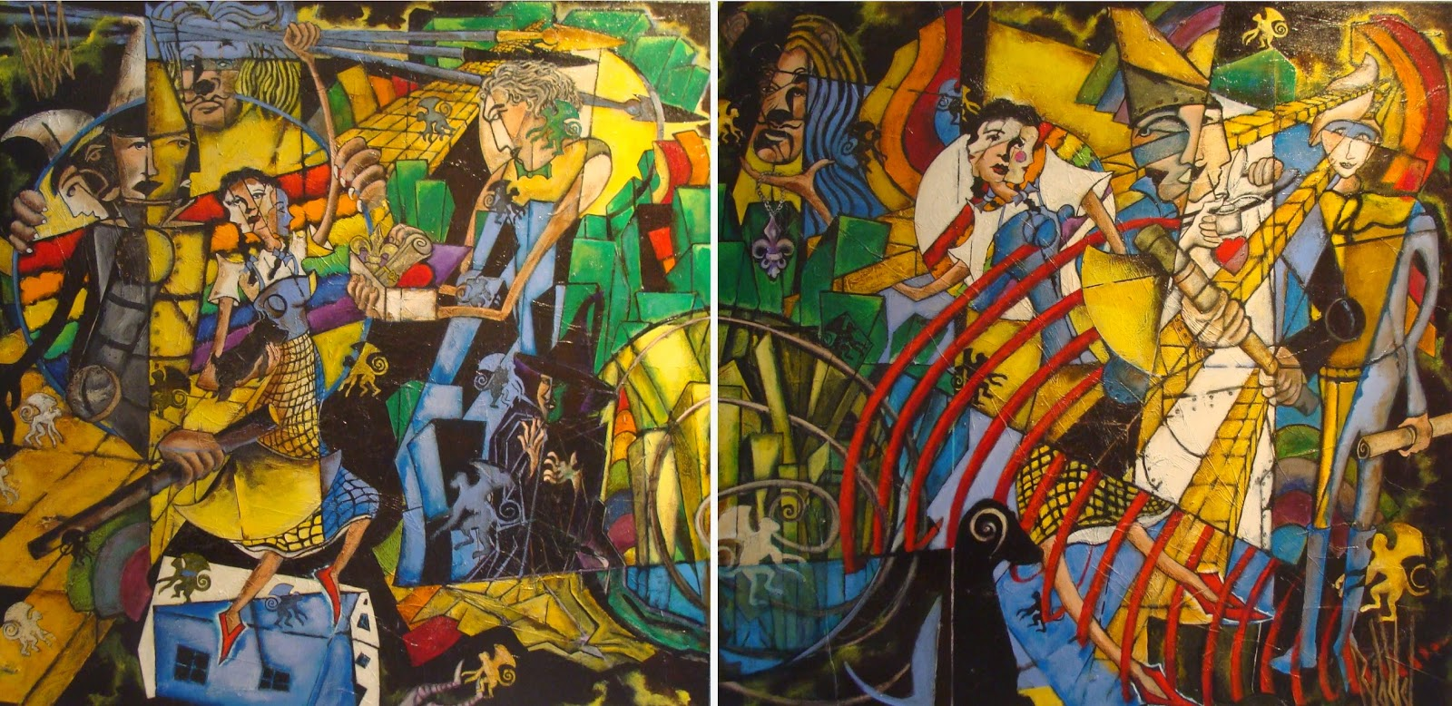 barbara steven paul riddle marion royael gallery these two 4 x 4 acrylic oil paintings on canvas by steven paul riddle are based on an essay by henry littlefield on the wonderful wizard of oz the