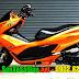 Mẫu sơn xe Honda PCX màu cam bóng cực đẹp