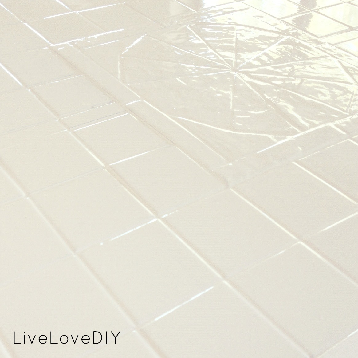 livelovediy how to paint tile countertops. Black Bedroom Furniture Sets. Home Design Ideas