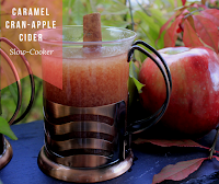 Caramel Cran-Apple Cider - A delicious cider made with apples and cranberries in your slow-cooker and sweetened with caramel topping.